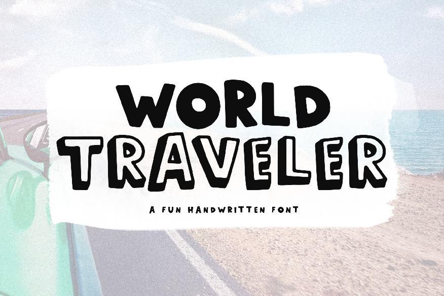 World Traveler - A Fun Handwritten Font