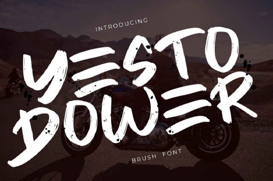 Yesto Dower Brush Font