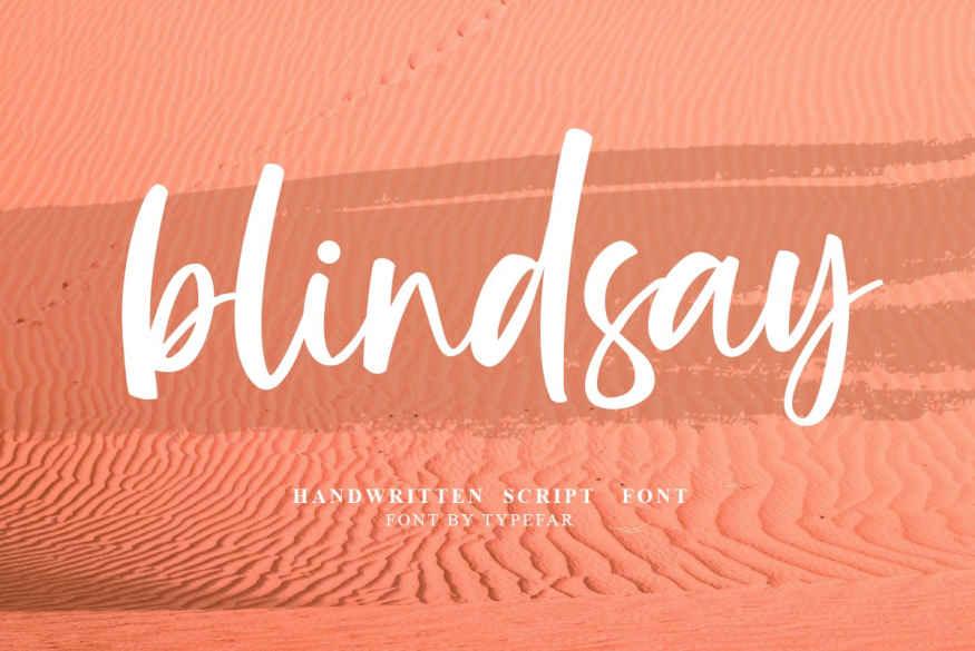 Blindsay - Handwritten Script Font