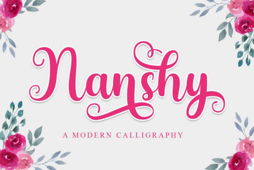 Nanshy - A Modern Calligraphy Font