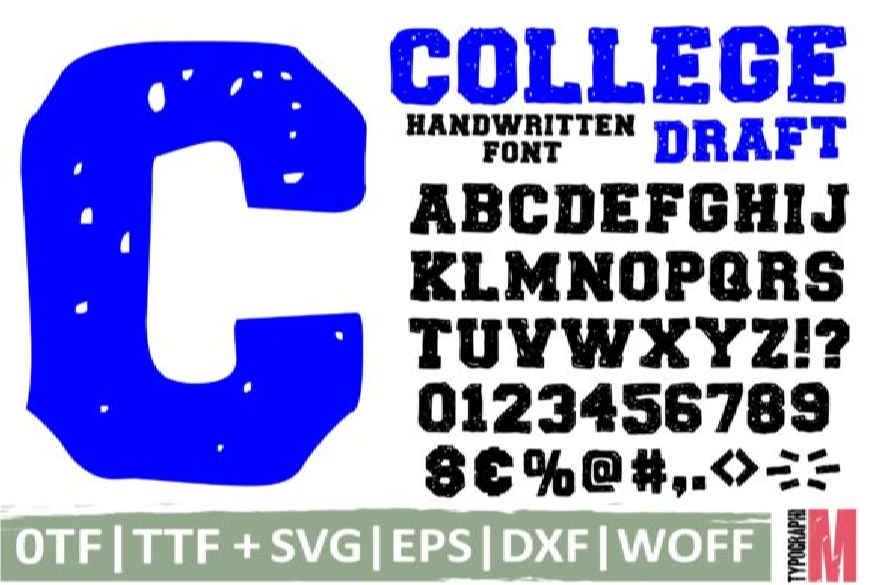 College Draft Font