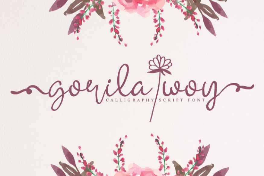 Gorila Woy Font