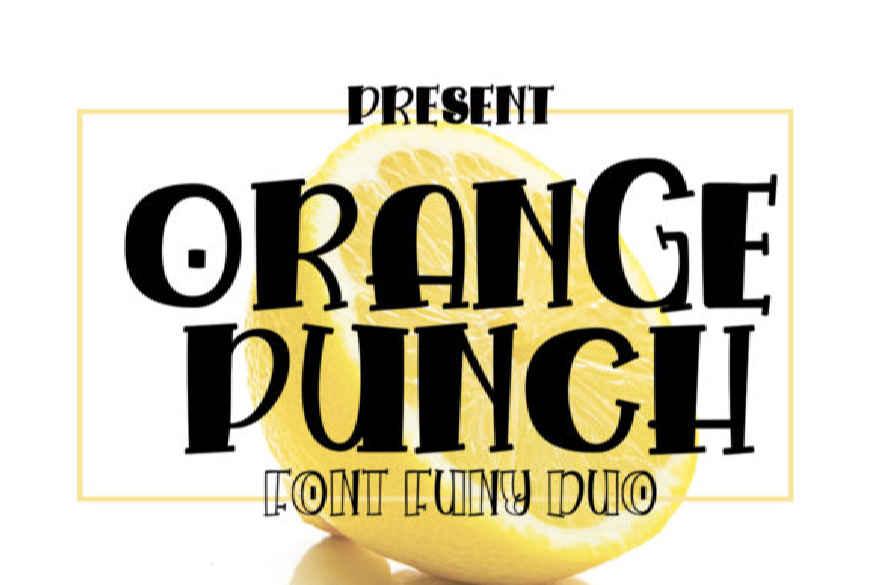 Orange Punch Font