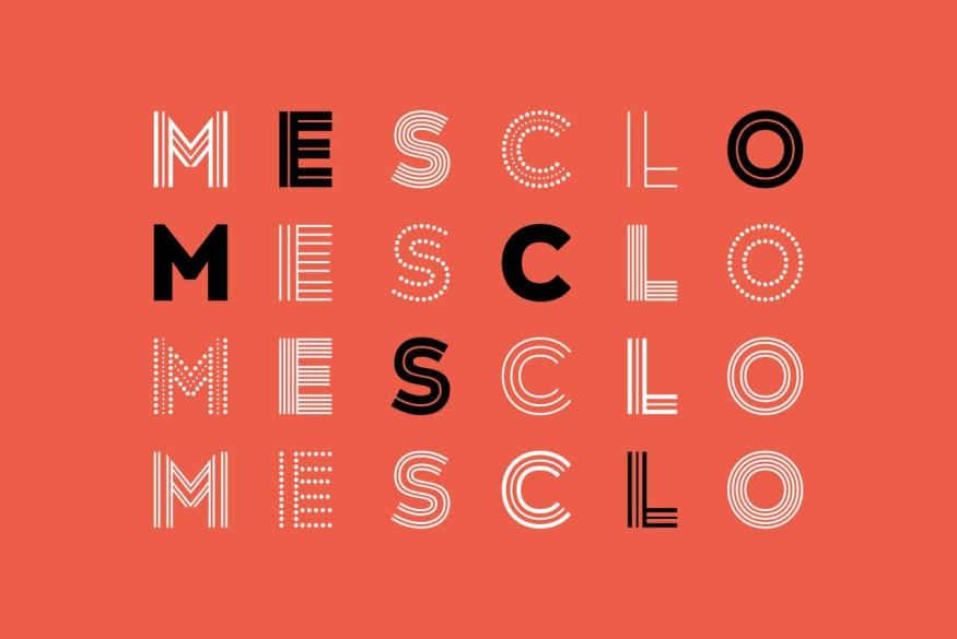 Mesclo Font Family