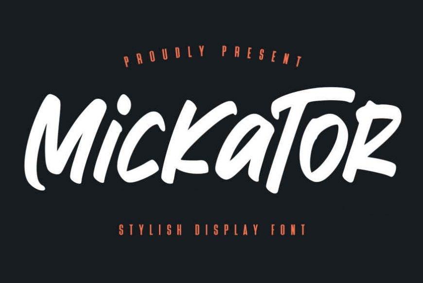 Mickator Stylish Display Font