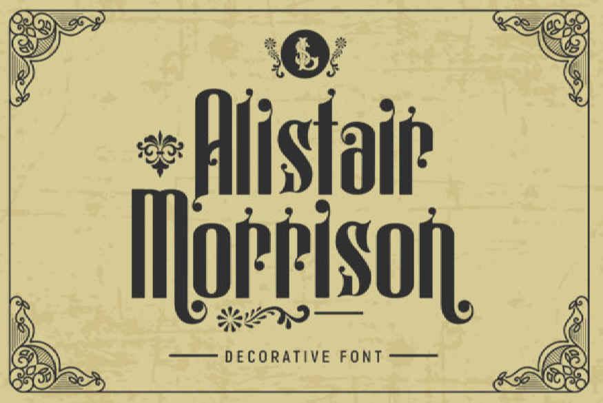 Alistair Morrison Font
