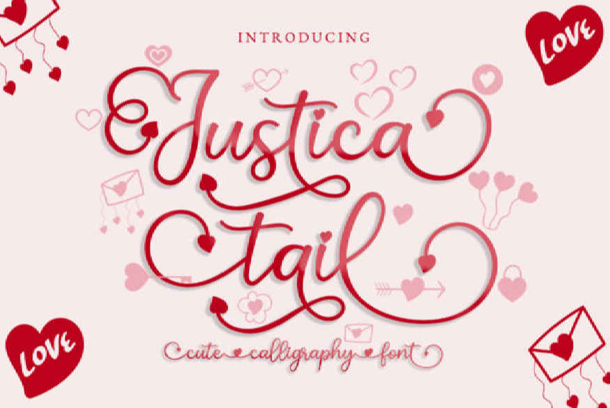 Justica Tail Font