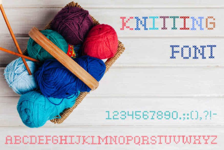 Knitting Font
