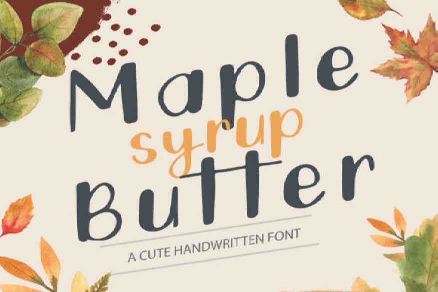 Maple Butter Font