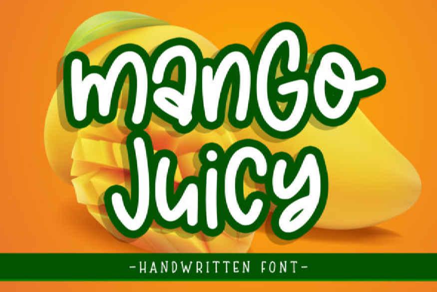 Mango Juicy Font
