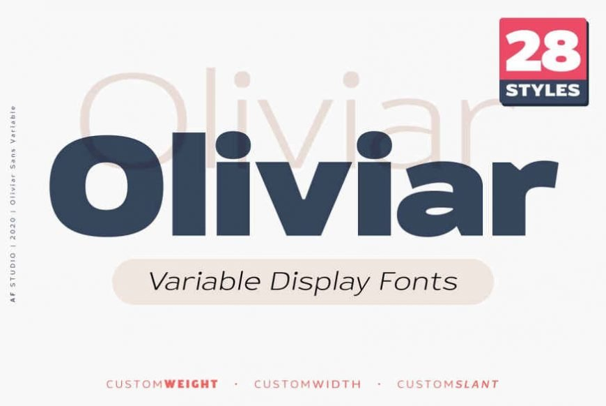 Oliviar Sans - Variable Fonts