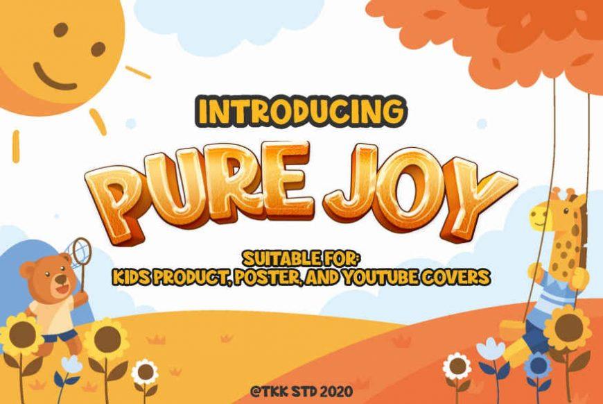Pure Joy - all cap happy font