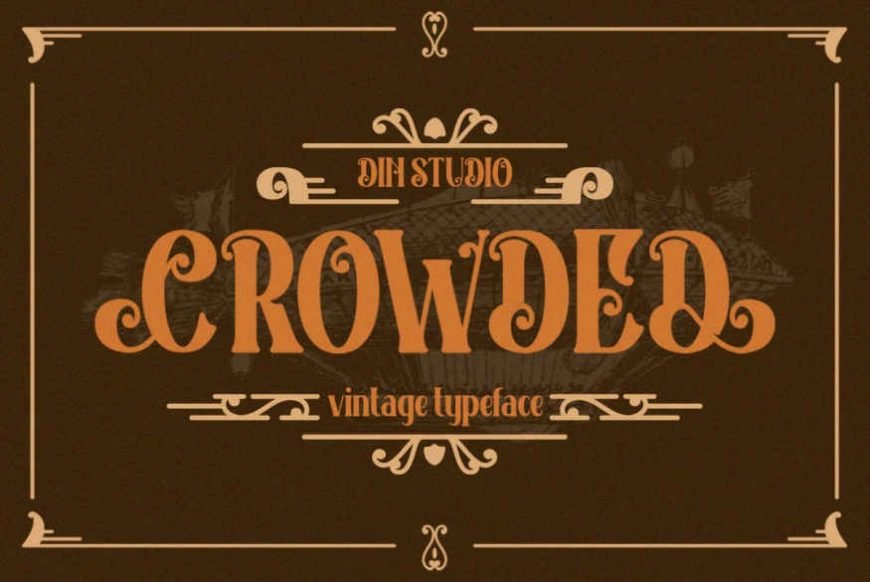 Crowded - Vintage Font