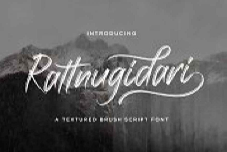 Rattnugidari - Brush Script Font