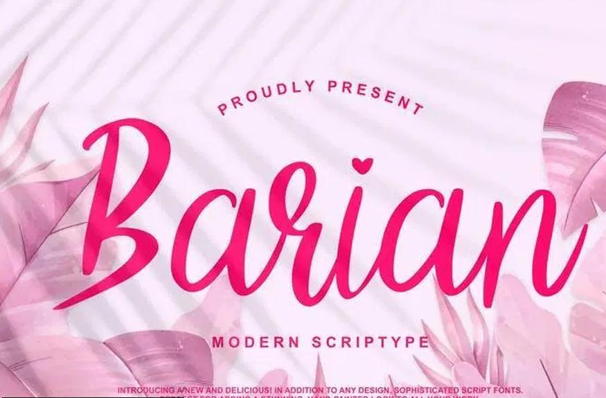 Barian Modern Scriptype