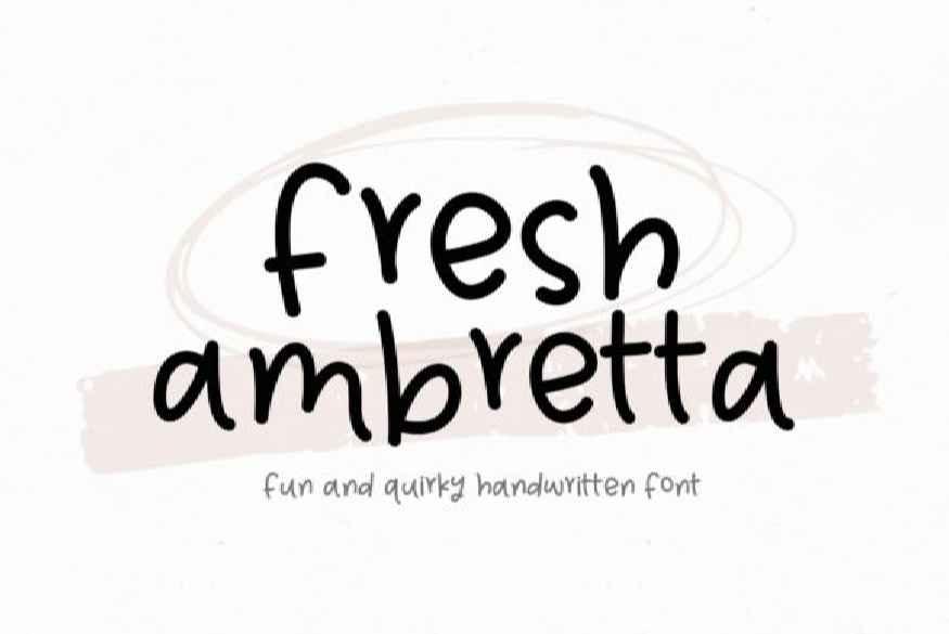 Fresh Ambretta Font
