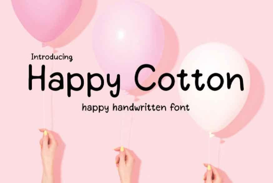 Happy Cotton Font