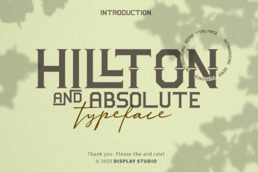 Hillton and Absolute Font