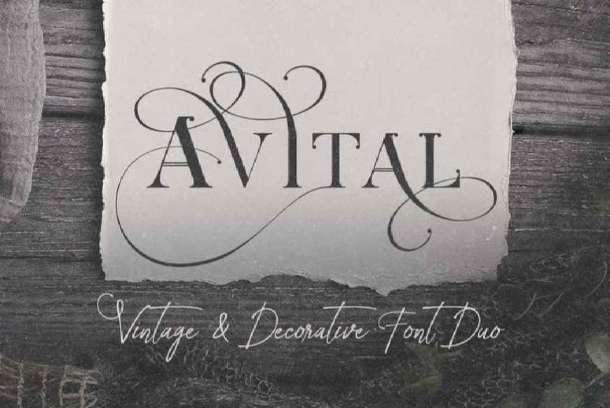 Avital Decorative Font Duo