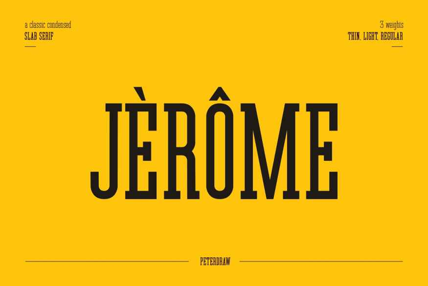 Jerome - Condensed Slab Serif