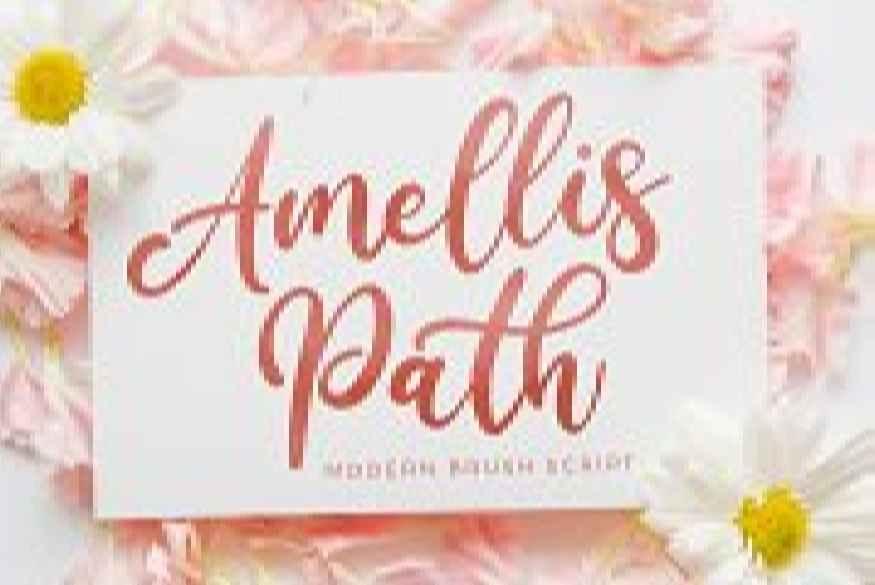 Amellis Path - Brush Script Font