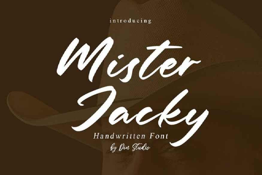 Mister Jacky Handwritten Font