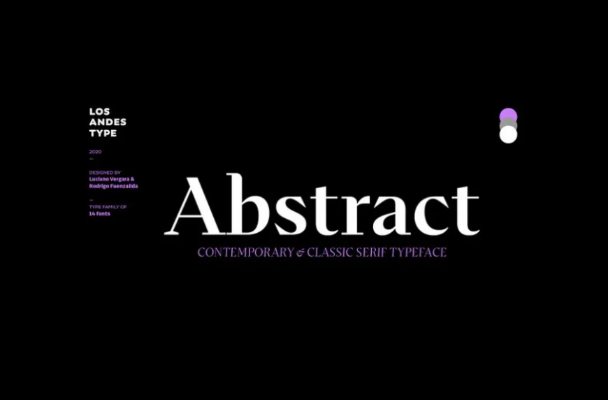 Abstract Font Family