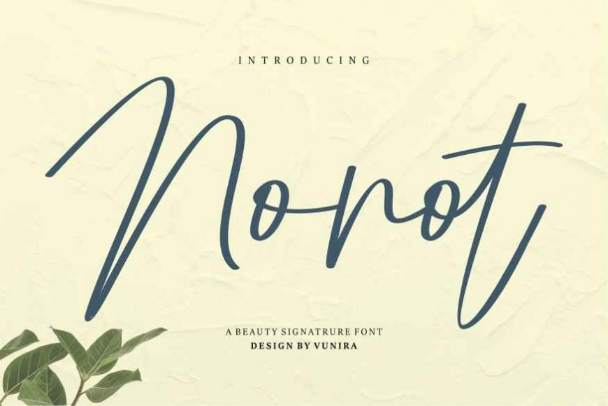 Nonot A Beauty Signature Font