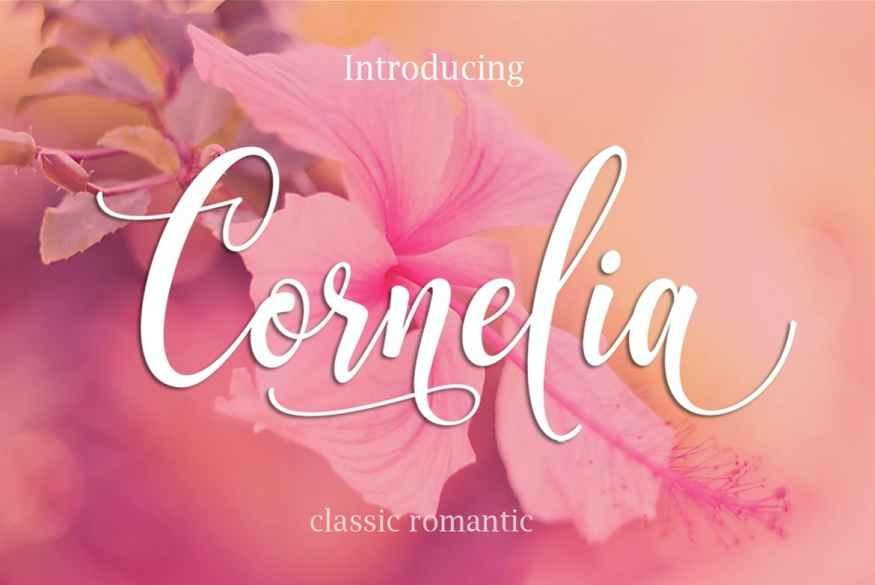 CORNELIA Modern Script