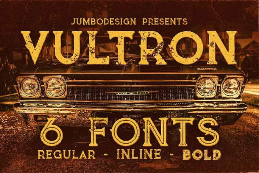 Vultron - Vintage Style Font