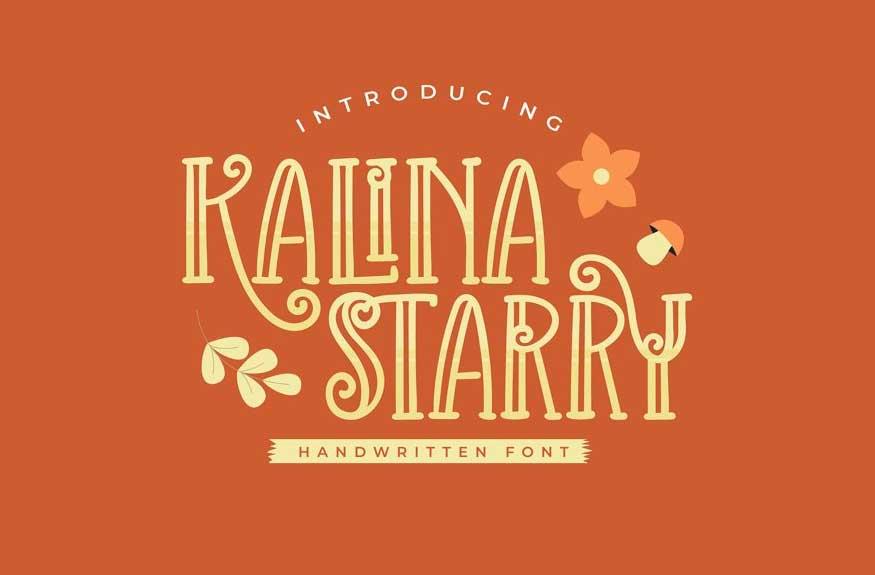 Kalina Starry Font