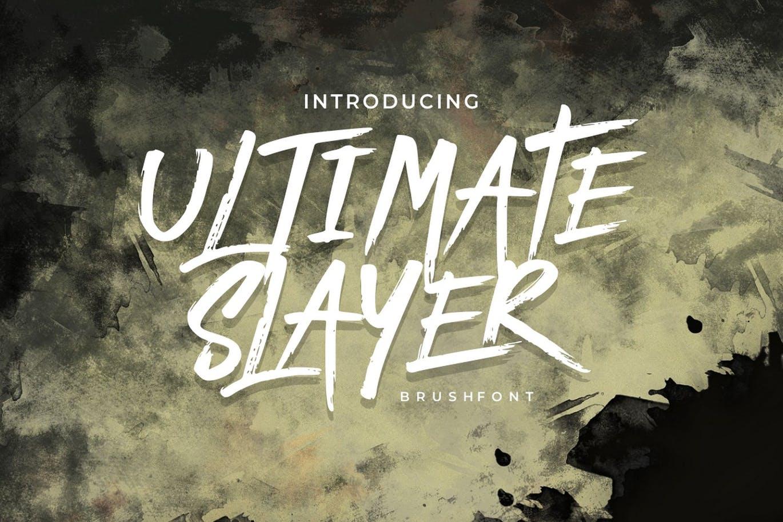 Ultimate Slayer - Handbrush Font