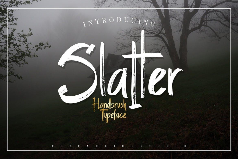 Slatter - Handbrush Font