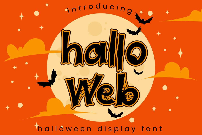 Halloweb - Halloween Font