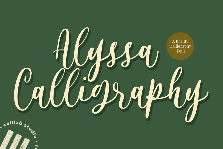 Alyssa Calligraphy Font