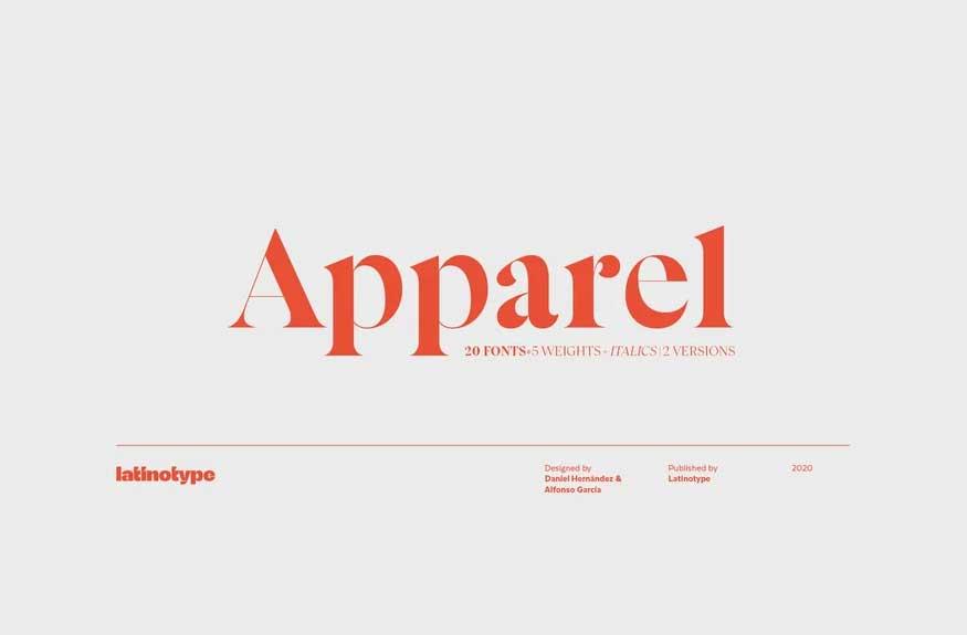 Apparel Font Family