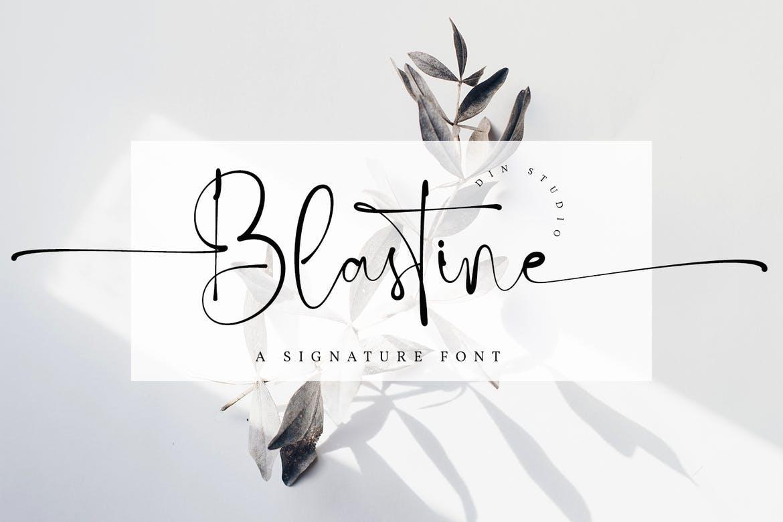Blastine - Beautiful Signature Font