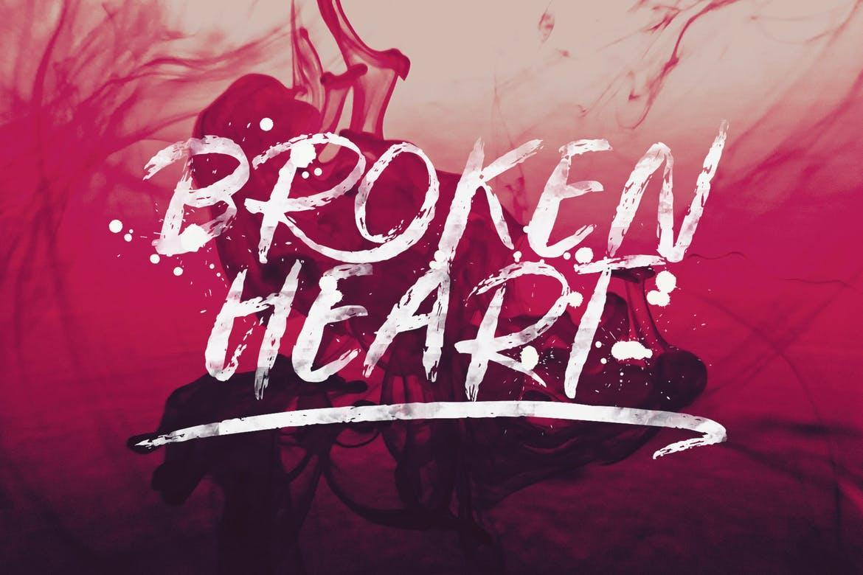 Broken Heart Font