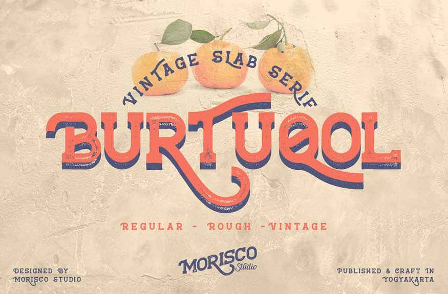 Burtuqol - Vintage Slab Serif