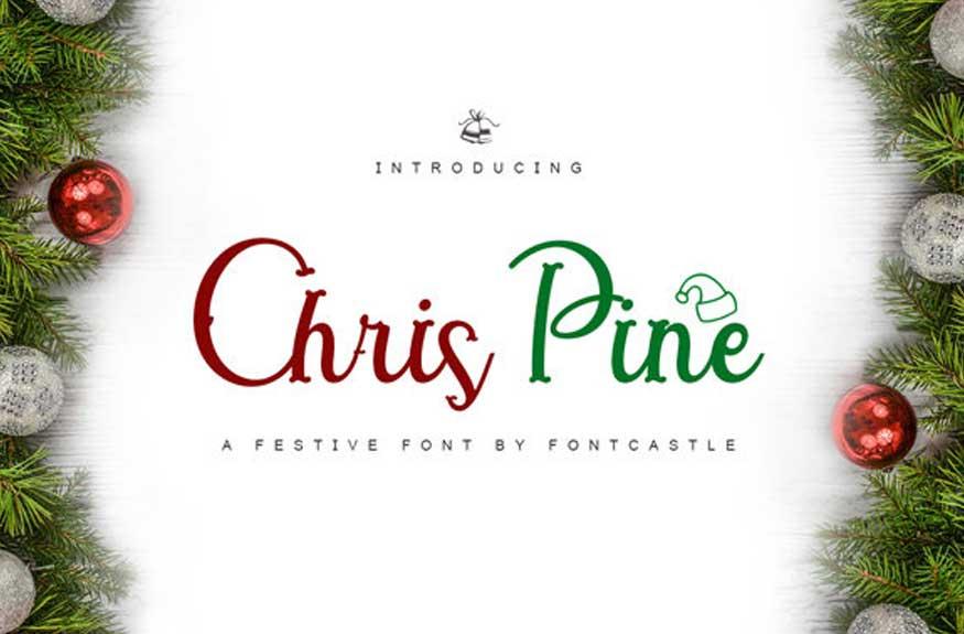 Chris Pine Christmas Font