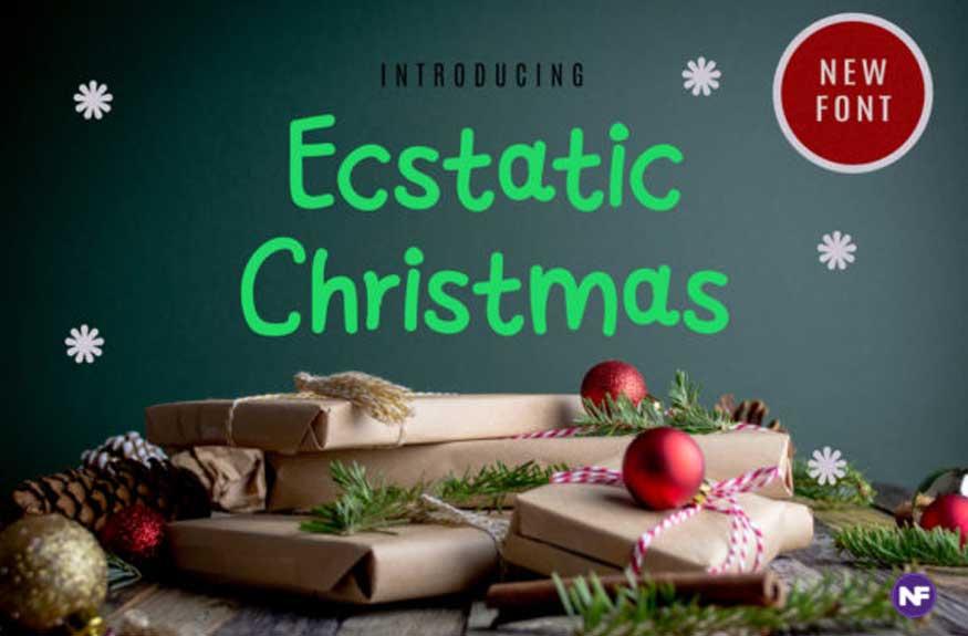 Ecstatic Christmas Font
