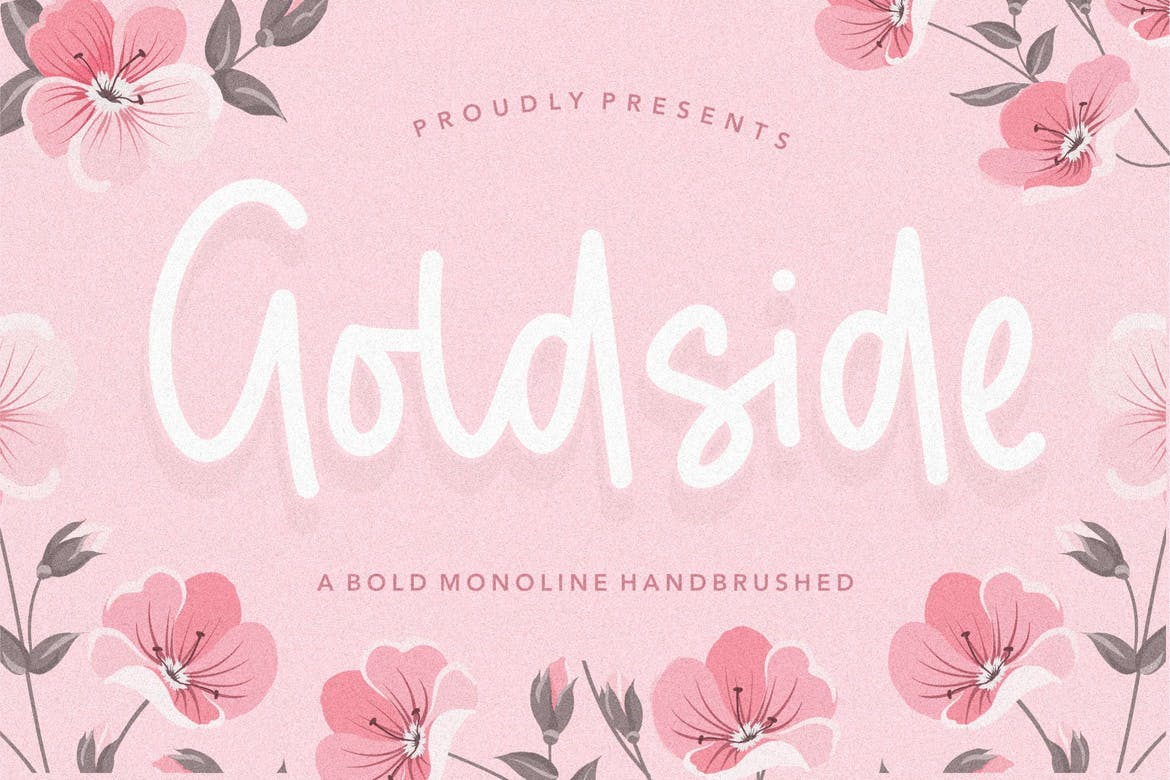 Goldside Brush Font