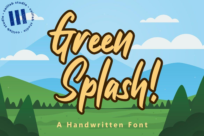 Green Splash! Font