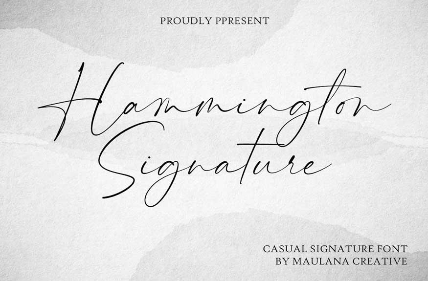 Hammington Signature Font