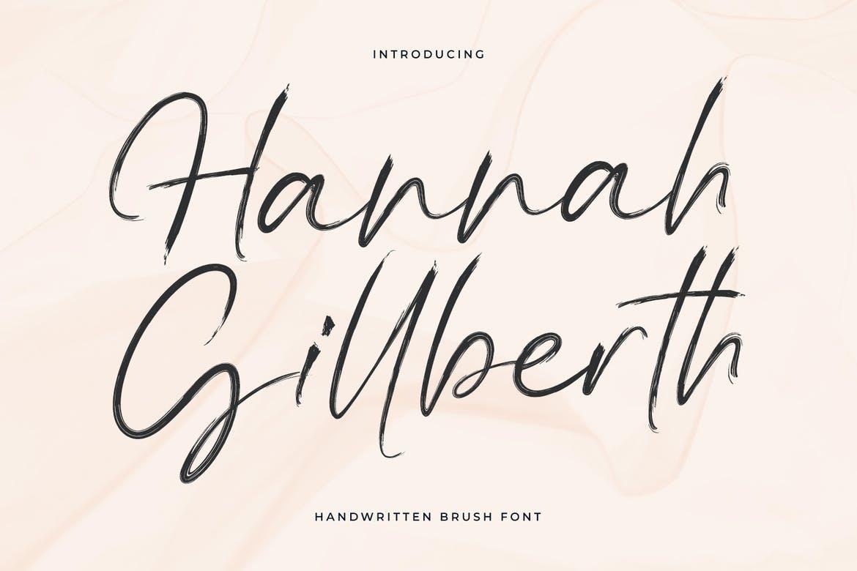 Hannah Gillberth Handwritten Brush Font