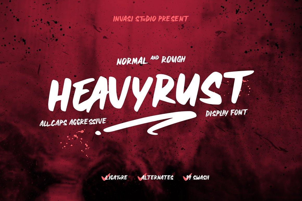 Heavyrust Font