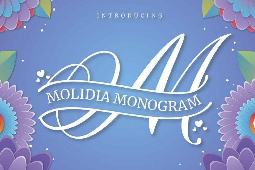 MOLIDIA monogram font