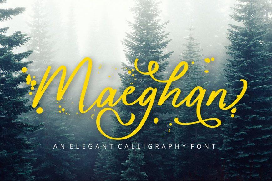 Maeghan Calligraphy Font