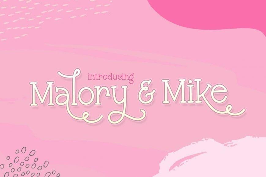 Malory & Mike Font Duo Font
