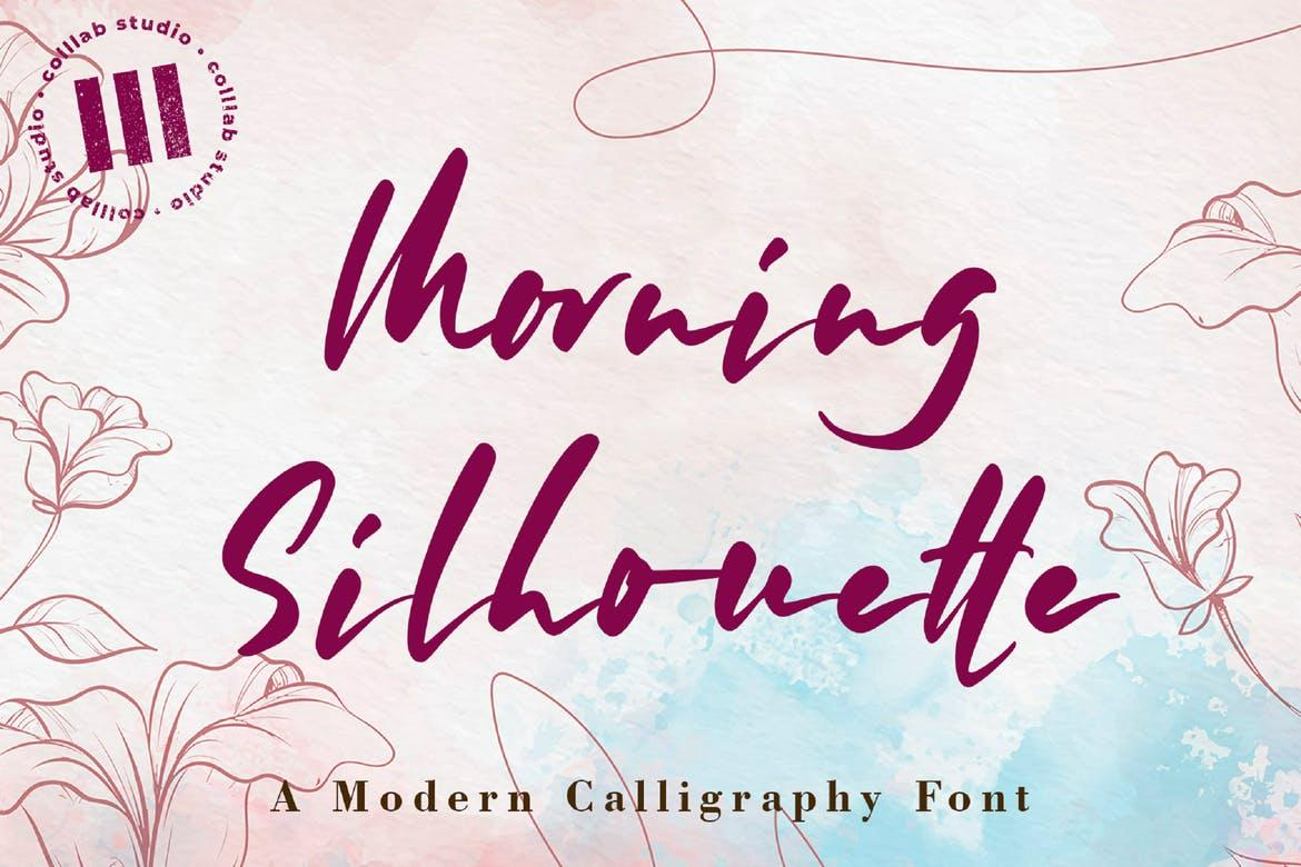 Morning Silhouette Font